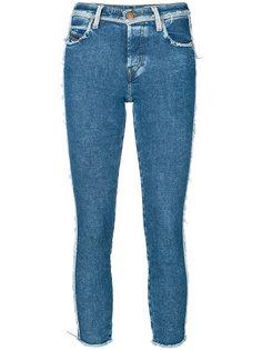 джинсы скинни с бахромой Diesel