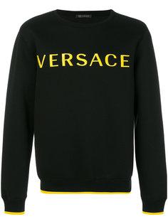 embroidered logo sweatshirt Versace