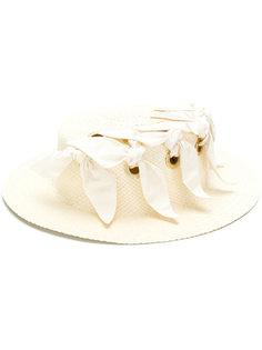 шляпа с отделкой лентами Federica Moretti
