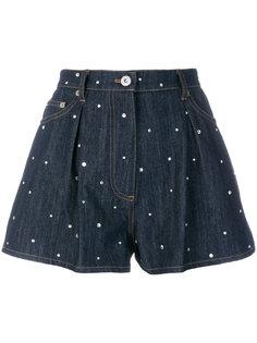 джинсовые шорты с вышивкой Miu Miu