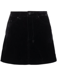 юбка-мини с бархатным эффектом Ksubi