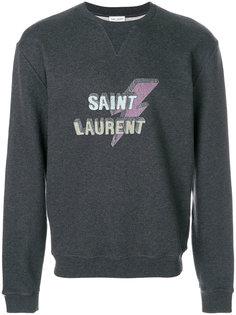 logo print sweatshirt Saint Laurent