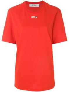 футболка свободного кроя с логотипом MSGM