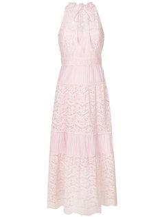 расклешенное кружевное длинное платье Temperley London
