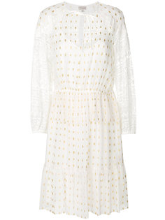 платье с кружевными рукавами Temperley London