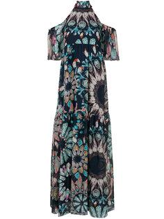 платье с открытыми плечами с принтом Temperley London