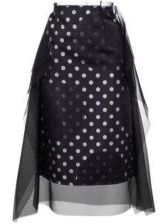 юбка с узором в горох и многослойным эффектом Maison Margiela