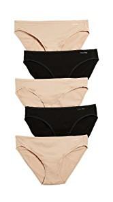 Calvin Klein Underwear Form 5 Pack of Bikini Briefs