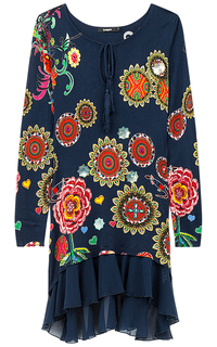 Трикотажное платье с принтом Desigual