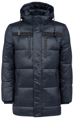 Стеганая куртка на искусственном пуху с капюшоном