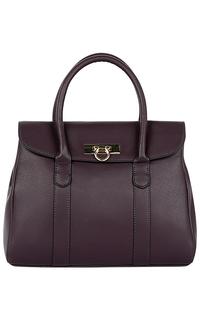 Фиолетовая сумка из натуральной кожи La Reine Blanche