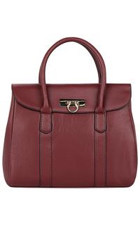 Бордовая сумка из натуральной кожи La Reine Blanche