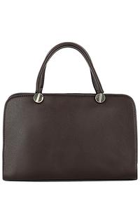Коричневая сумка из натуральной кожи La Reine Blanche