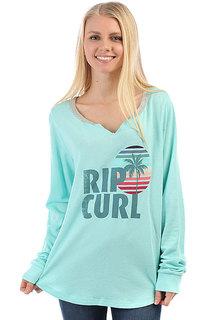 Толстовка классическая женская Rip Curl Sun And Surf V Neck Fleece Aruba Blue