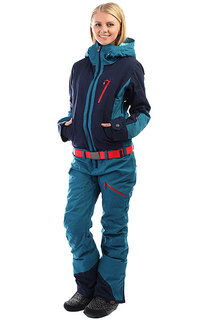 Комбинезон сноубордический женский Roxy Impression Suit Ink Blue
