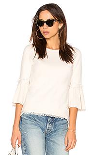 Fringe tulip sleeve sweater - 525 america