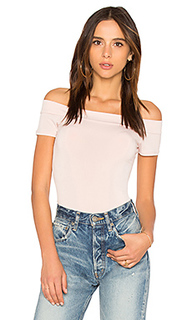 Off the shoulder bodysuit in rose smoke - BCBGeneration