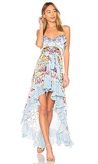 Платье с асимметричным подолом - Camilla
