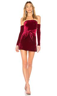 Платье с длинным рукавом и открытыми плечами lucia - Lovers + Friends