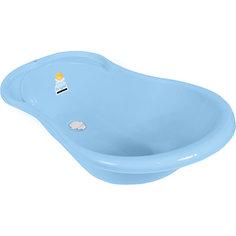 Детская ванночка Little Angel Ангел со сливом 84 см, голубая
