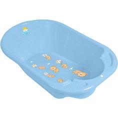 Детская ванночка Little Angel  Дельфин, Bear голубая