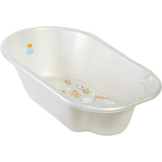 Детская ванночка Little Angel Дельфин, Bears белый перламутр