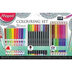 Набор для рисования, 33 предмета, Maped