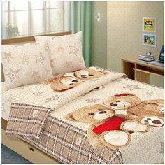 Детское постельное белье 1,5 сп Letto Влюбленные мишки