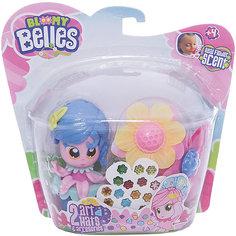 Мини-кукла Toy Shock с цветочками для волос (синяя)