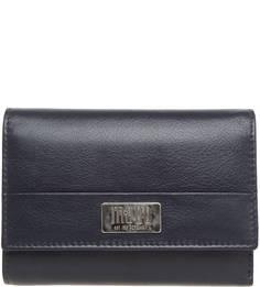 Кожаный кошелек на кнопке Mano