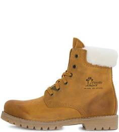 Коричневые ботинки с овечьей шерстью Panama Jack