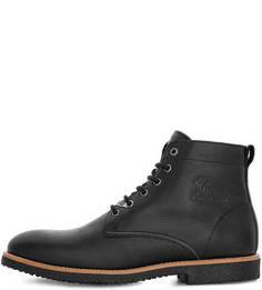 Черные кожаные ботинки на шнуровке Panama Jack