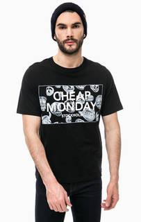 Хлопковая футболка черного цвета Cheap Monday