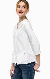 Белая хлопковая блуза на пуговицах Rich&Royal