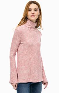 Розовый джемпер с удлиненной спинкой Mavi