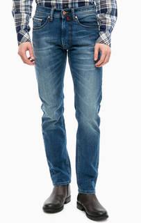Синие зауженные джинсы с пятью карманами Pierre Cardin