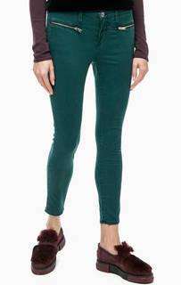 Зауженные зеленые брюки из хлопка Rich&Royal