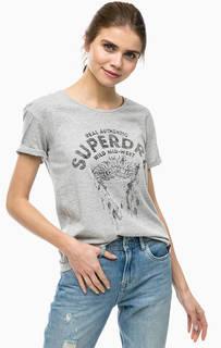 Серая футболка с короткими рукавами Superdry