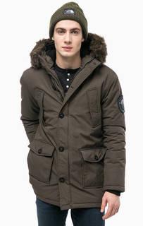 Утепленная куртка цвета хаки с капюшоном Superdry