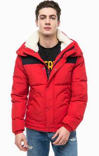 Короткая зимняя куртка со съемным капюшоном Superdry