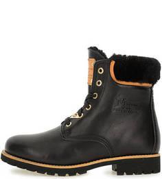 Утепленные кожаные ботинки Panama Jack