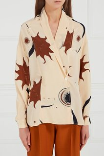 Шелковая блузка с принтом (90-е) Christian Dior Vintage