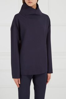 Синий свитшот из шерсти Victoria Beckham