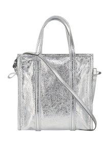 Серебристая сумка Bazar Shopper S Balenciaga