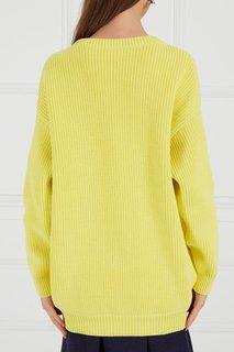 Желтый хлопковый пуловер Balenciaga