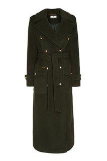 Двубортное пальто в стиле милитари Laroom