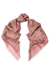 Розовая шаль из модала и шелка Gucci