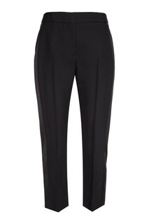Черные брюки из шерсти и шелка Alexander Mc Queen