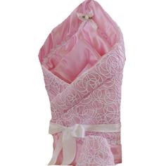Одеяло меховое на выписку «Ажур» розовое Argo