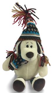 Мягкая игрушка ABtoys «Собака в шапке» 24 см